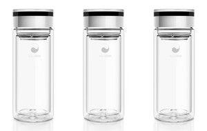 AquaOvo eco-thermal glass vessel