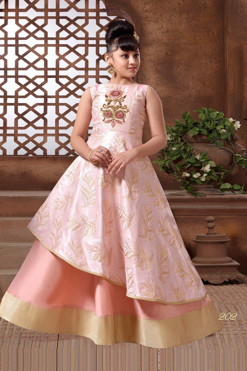 4a91369c3d29c Sparkling Silk Embroidered Kids Wear Dresses in 2019 | Dresses ...