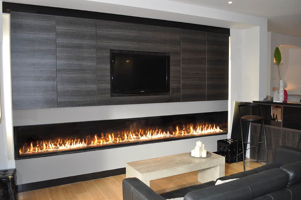 chemin e gaz grand format extra large gas fireplace. Black Bedroom Furniture Sets. Home Design Ideas