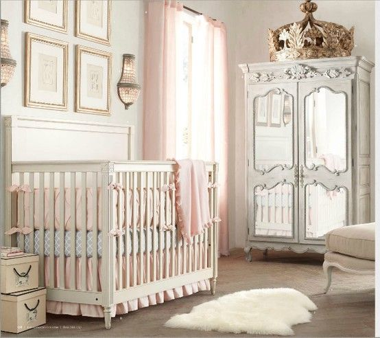 Soft And Elegant Gray And Pink Nursery: Elegant Nursery, White And Blush...adorable!
