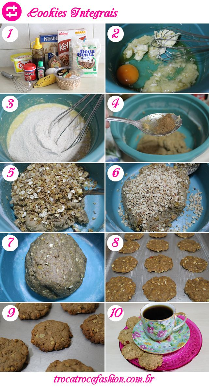 receita cookies integrais/ integral cookies/ delicious/ easy recipe