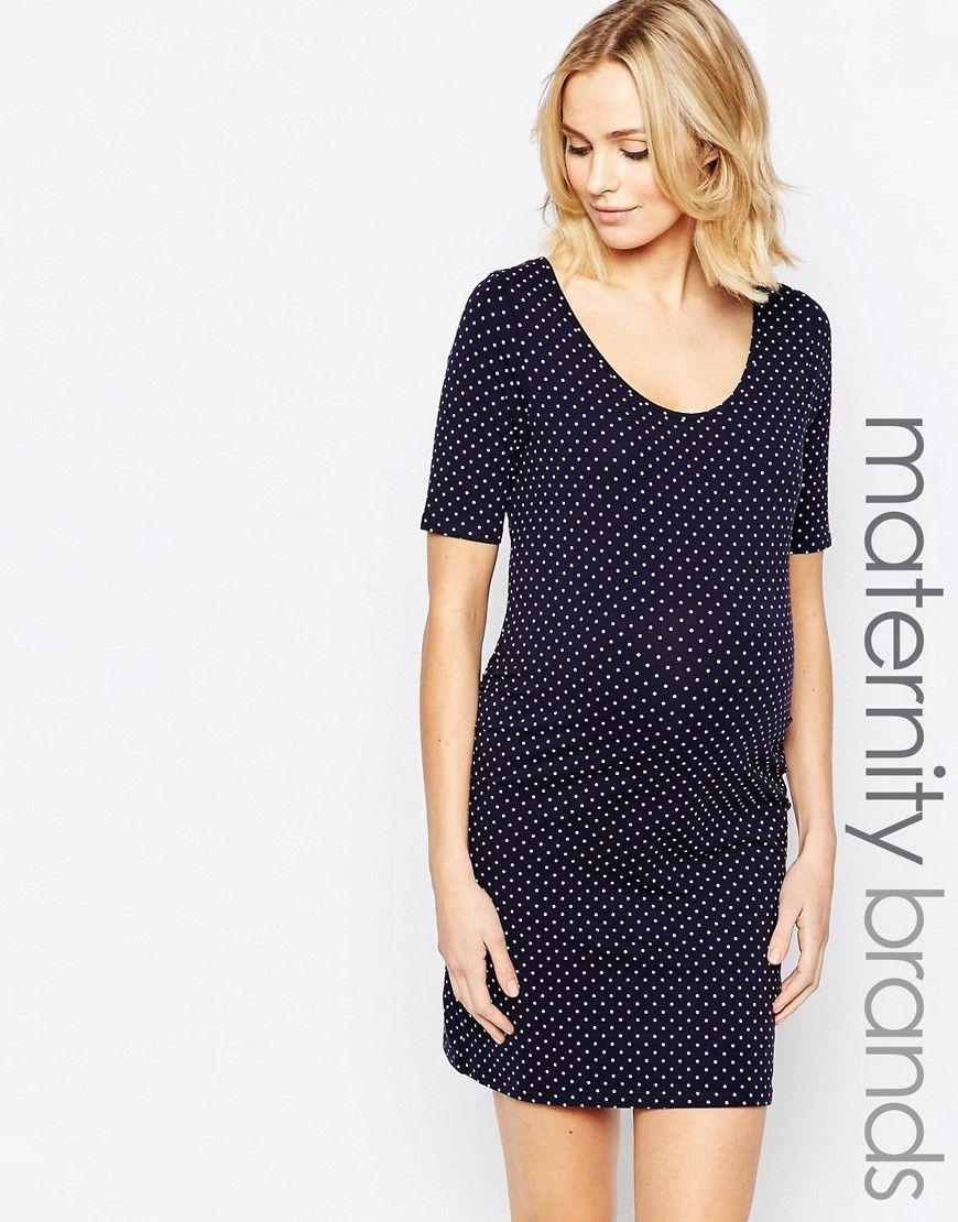 54967706fc4f6 New look maternity polka dot dress | Jayce | Dresses, Maternity ...