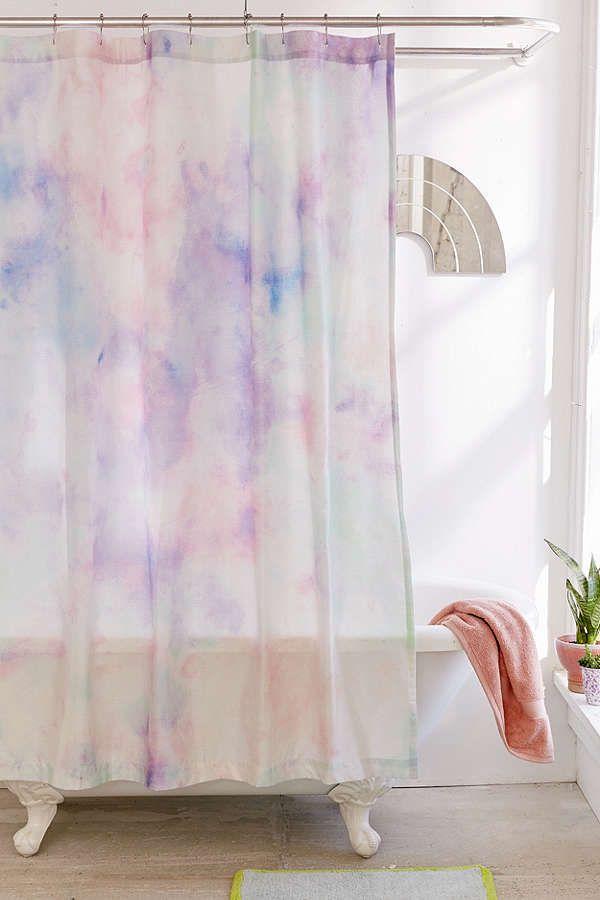 Slide View 1 Rainbow Dye Shower Curtain