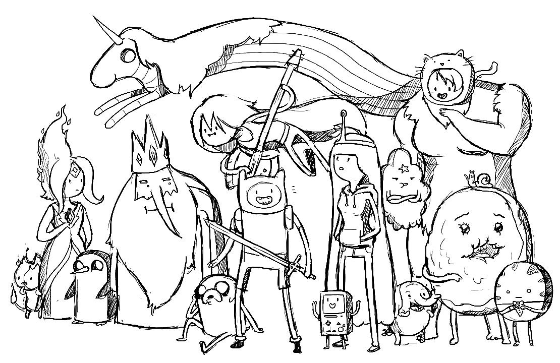 all adventure time coloring pages  adventure time