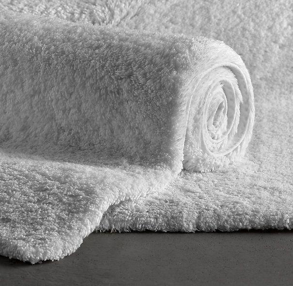 Plush Pile Bath Rugs Remodelista Burroughs Bathroom Pinterest - Black cotton bath mat for bathroom decorating ideas