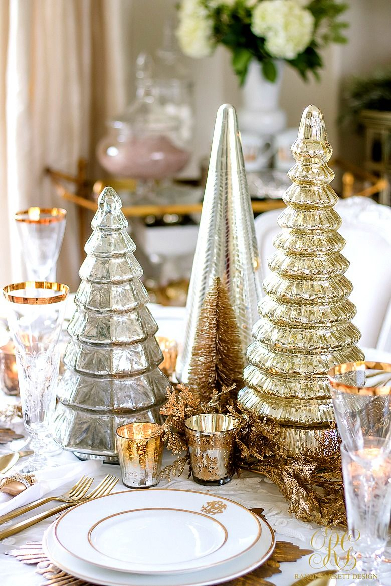 Elegant Gold Christmas Table Scape Christmas Centerpieces Gold Christmas Christmas Decorations
