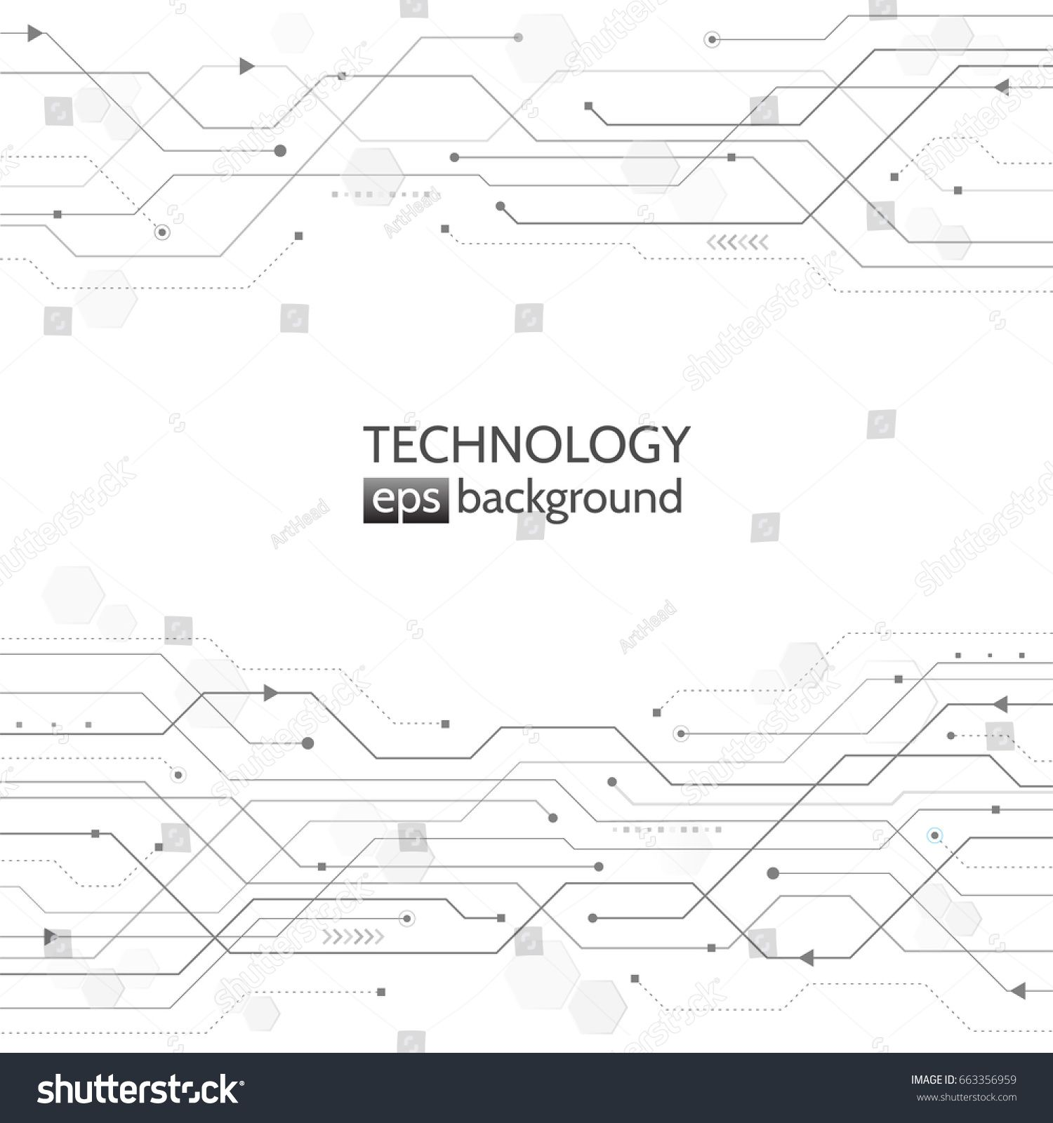 Circuit Board Texture On The White Background Abstract Digital Textures Pinterest Modern Concept Style High Tech Vector Illustration
