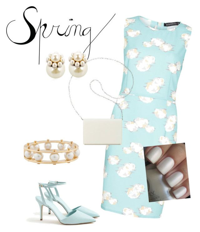"""""""Spring Dress"""" by debi-lambert on Polyvore featuring Sugarhill Boutique, J.Crew, Nine West, Mawi and Lele Sadoughi"""