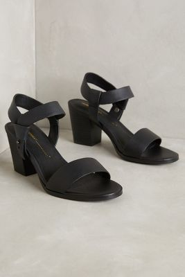 Intentionally Blank Knotted Leather Heels   Anthropologie