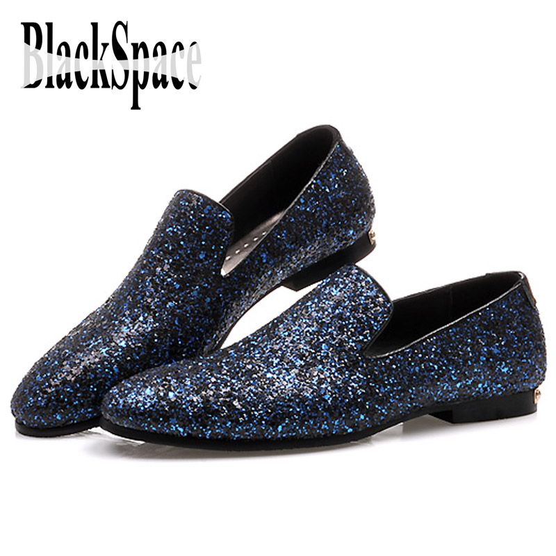 2015 Men Glitter Shoes New Mens Fashion Casual Flats Men's ...