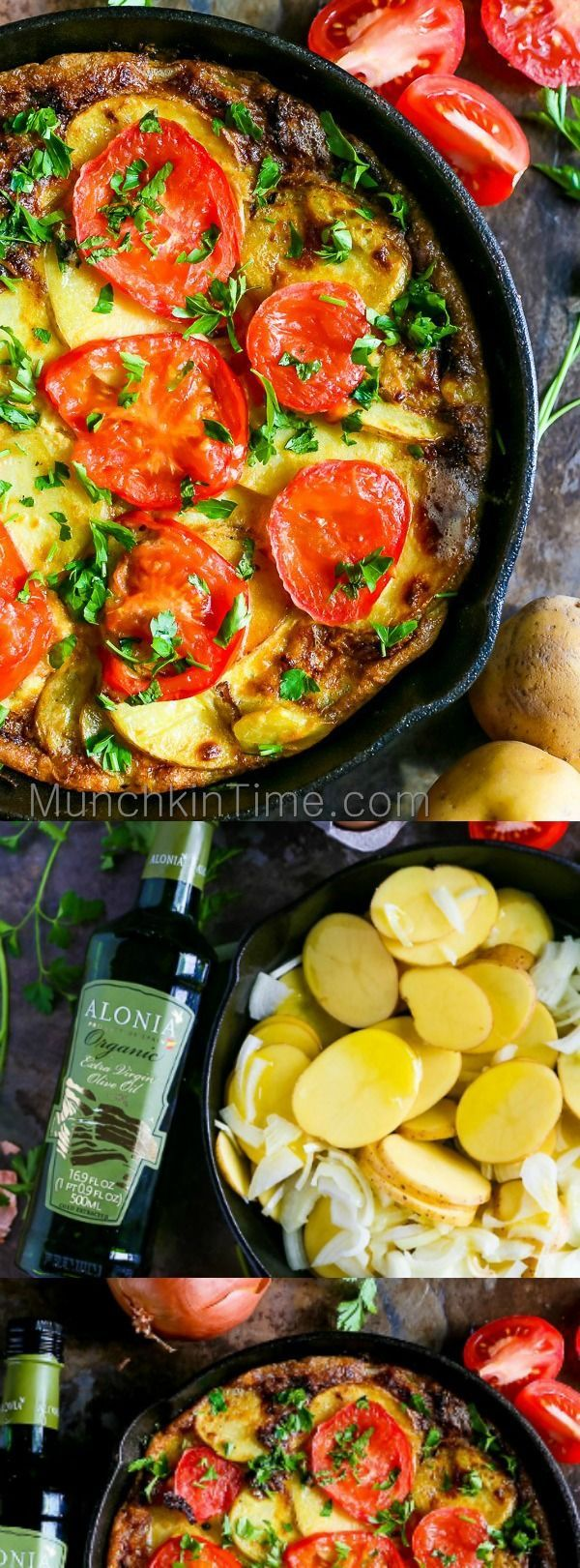 This Classic Spanish Omelette is a keeper! So simple and so delicious. Beautiful dish to make for Sunday Brunch.