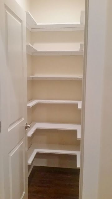 Kitchen Pantry Closet Rustic Table Sets Makeover Replace Wire Shelves With Wrap Around Wood Shelving For Under 130 Diy