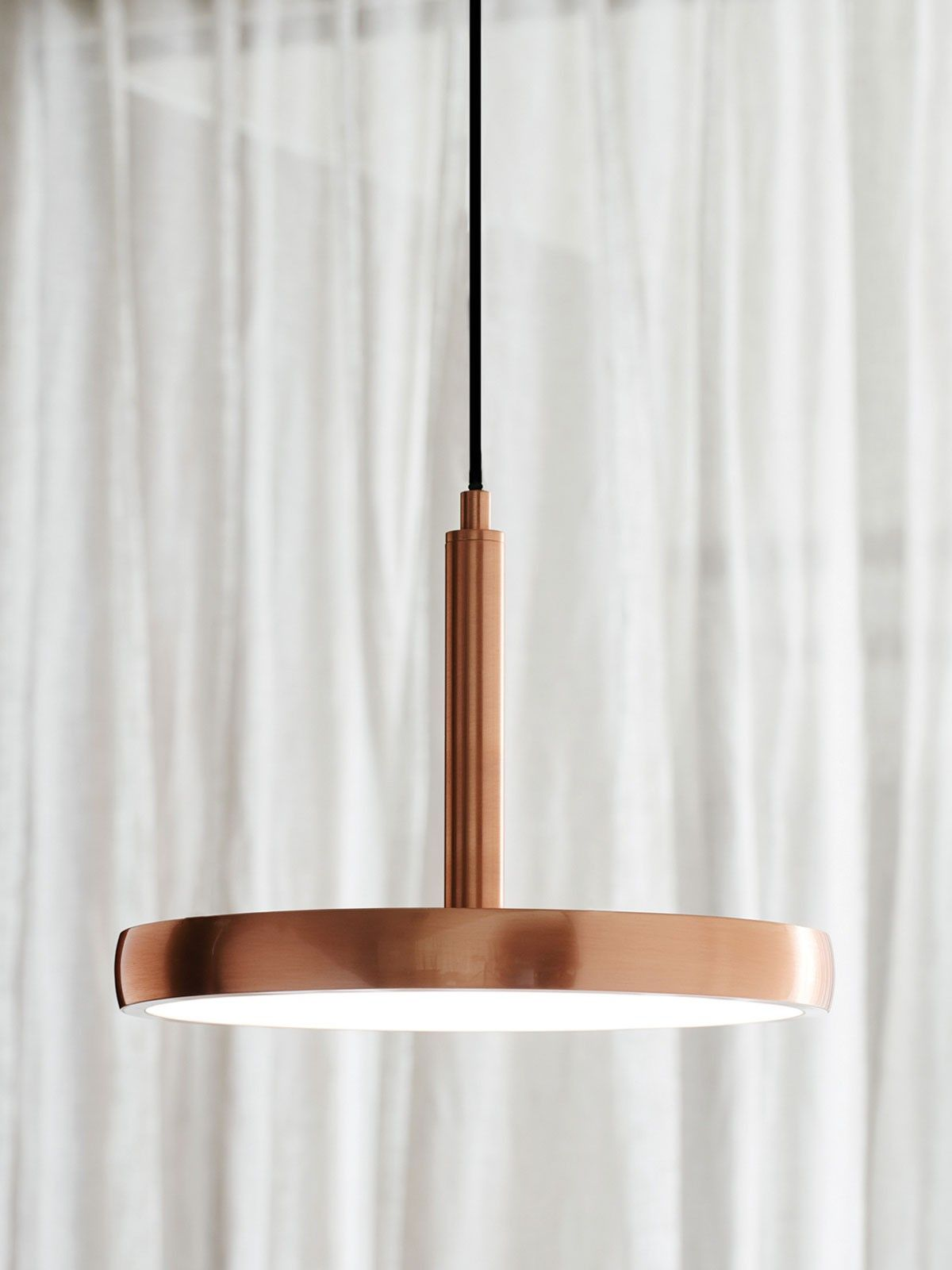 LEDlux Bennett 300mm Dimmable LED Pendant in Copper Finish