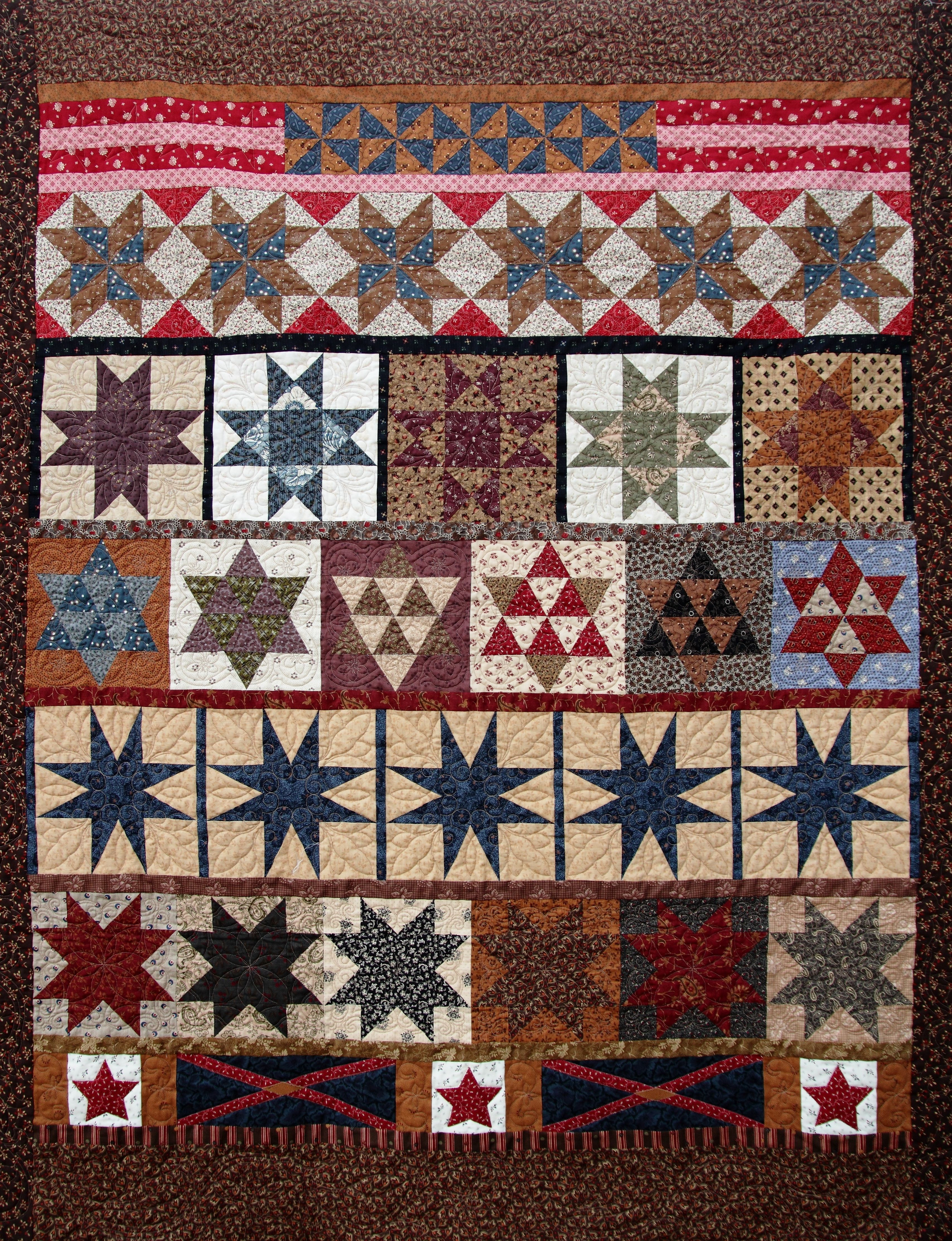 Civil War Stars Row by Row Quilt   Common Threads Quilts   Blog