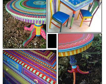 colorful painted furniture. Absolutely Awesome Hand Painted Furniture Wild And Crazy Custom Made To By LisaFrick, EASY DIY Colorful R