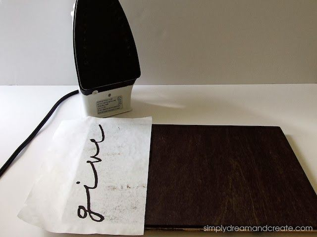 Stencil onto wood using freezer paper and iron | Crafts