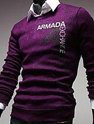 Men's Print Pullover , Polyester Long Sleeve