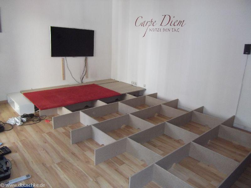 Wohnzimmer podest selber bauen bauanleitung mit bildern - Wohnzimmer podest ...