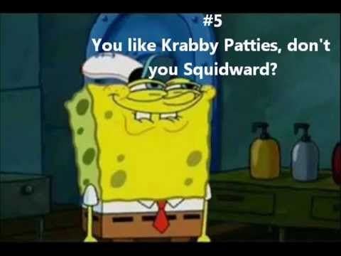 Spongebob and Squidward |Funny Squidward Pictures With Captions