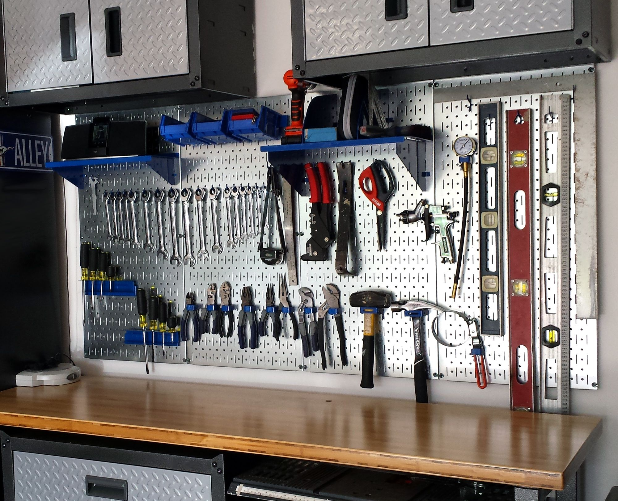 garage organization ideas pegboard - Wall Control Metal Pegboard for garage tool storage and
