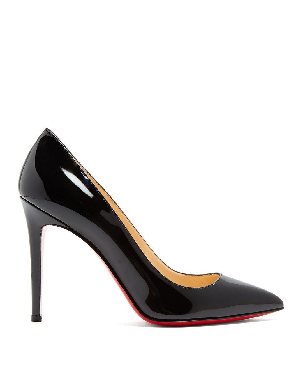 d0d7557bff24 Christian Louboutin - Black Pigalle 100mm Patent-leather Pumps - Lyst