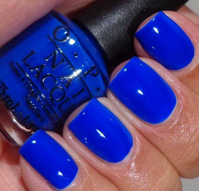 Blue Nail Polish The Block: OPI Blue It Out Of Proportion. Reminds Me Of Essie Butler