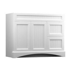 Kraftmaid 42 In White Bathroom Vanity Cabinet At Lowes