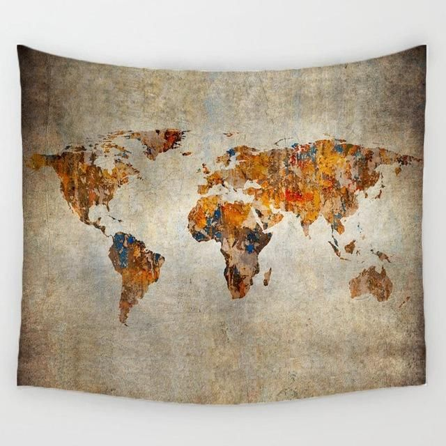 Rustic world map blanket fuel the fernweh products pinterest rustic world map blanket fuel the fernweh products pinterest vintage decorations wall tapestries and beach towel gumiabroncs Image collections