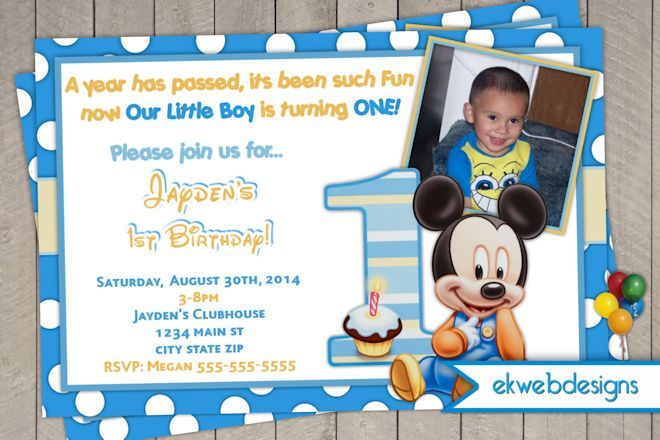 Mickey mouse 1st birthday invitations 1st bday party invite mickey mouse 1st birthday invitations 1st bday party invite personalized invitationsminnie filmwisefo Choice Image
