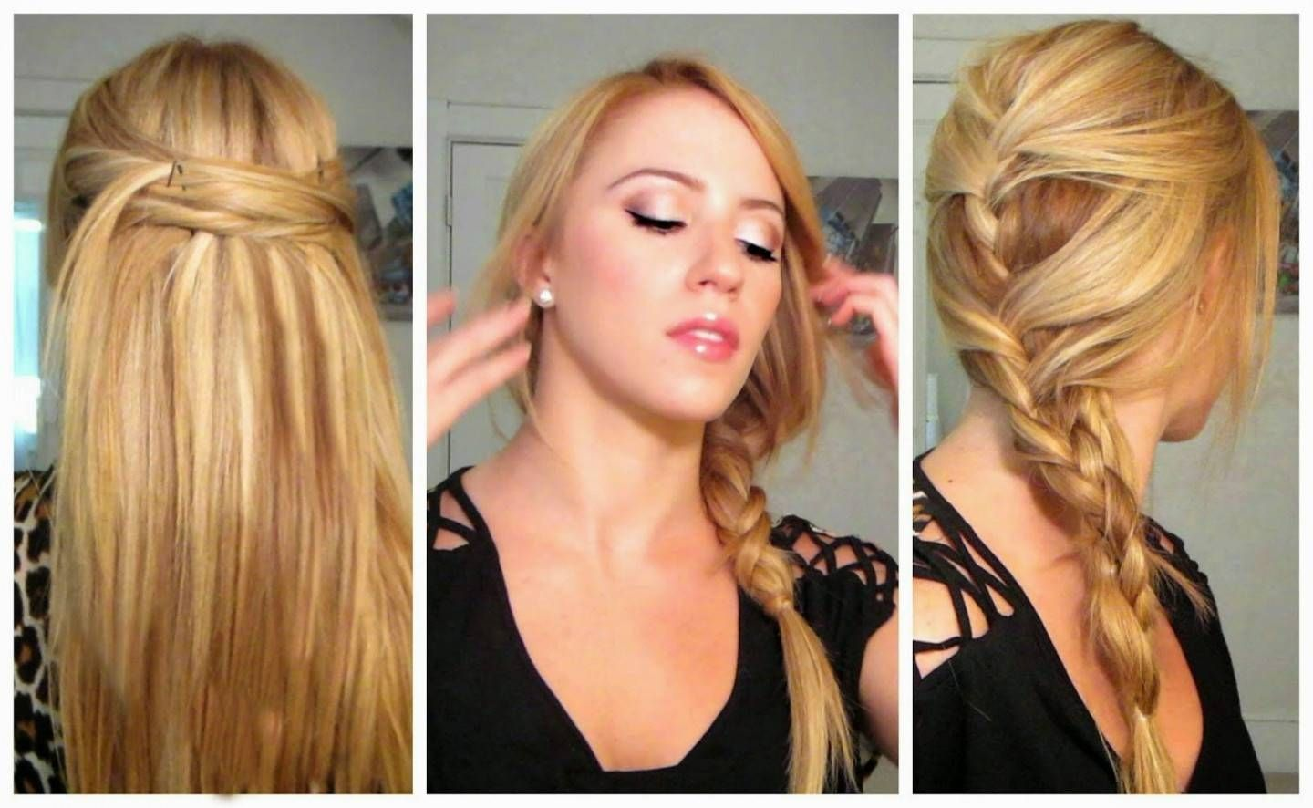 Best Quick And Easy Ways To Style Long Straight Hair Fast Hairstyles Thick Hair Styles Easy Hairstyles