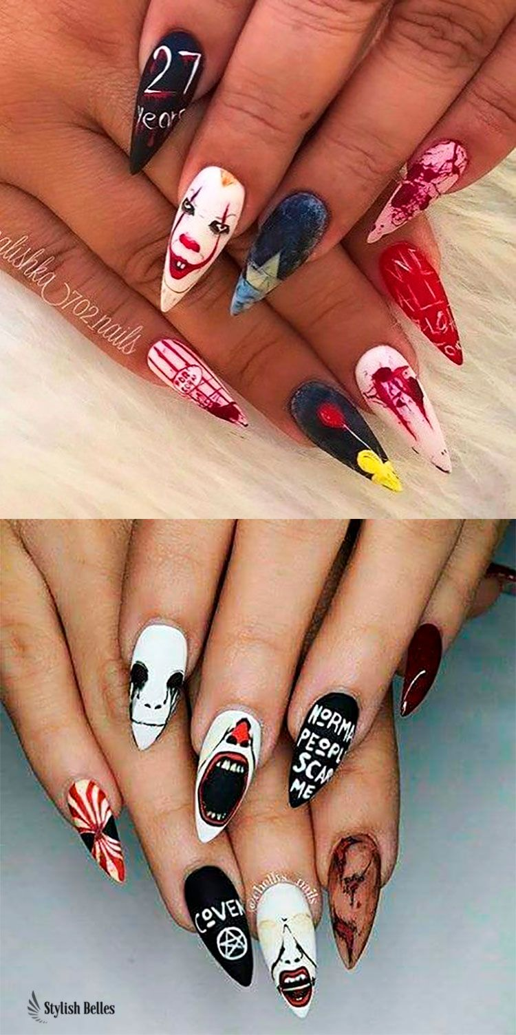 The Best Halloween Nail Designs In 2018 Stylish Belles Halloween Nails Halloween Acrylic Nails Halloween Nail Designs