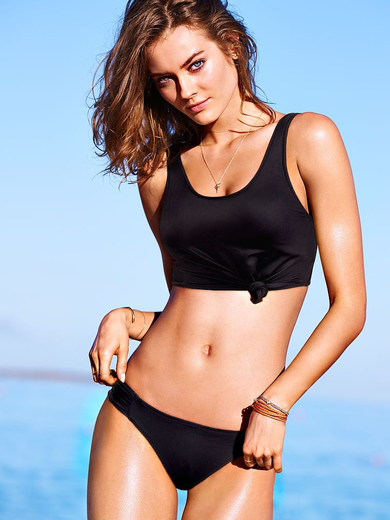 941a465395 Victoria s Secret Knotted Top. Beach Sexy Black Tankini