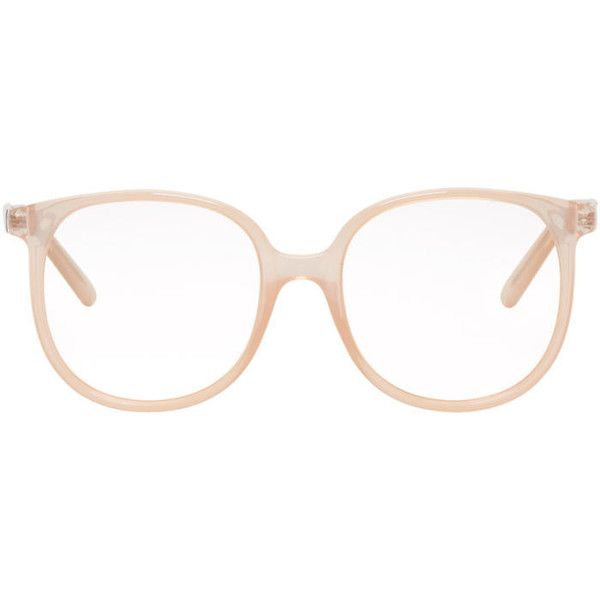 9f3365b77c7b9a Chloé Pink Round Glasses ( 240) ❤ liked on Polyvore featuring accessories,  eyewear, eyeglasses, pink, rounded glasses, round eyeglasses, round  eyewear, ...