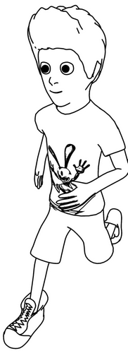 Small Boy Run Realistic Coloring Page In 2020 Small Boy Coloring Pages Boy Coloring