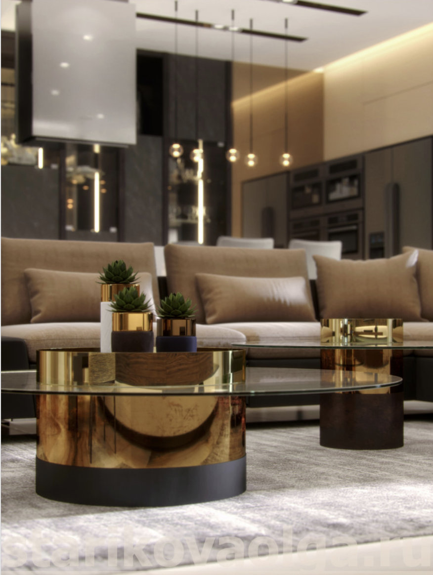 Centre Table Designs For Living Room: Olga Starikova Luxury, Elegant And Beautiful Living Room