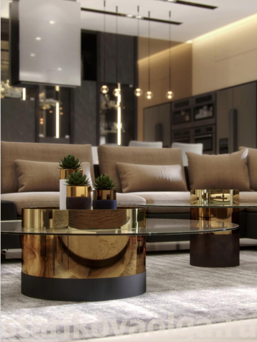 Olga Starikova Luxury Elegant And Beautiful Living Room With Gold Center Tables Best Top Famous Luxurious Exclusive High End In Dekor Oturma Odasi Dekorasyon