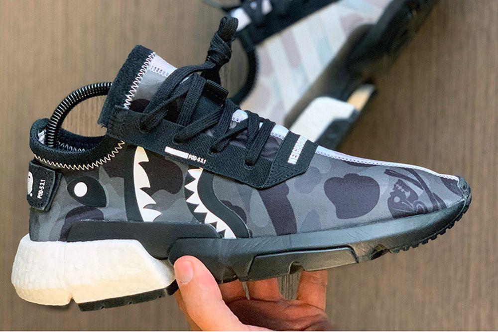 Bape X Neighborhood x Adidas NMD, Men's Fashion, Footwear