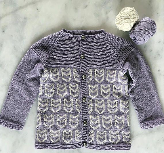 Cardigan For Girls Fair Isle Cardigan Hand Knit Cardigan For Girls
