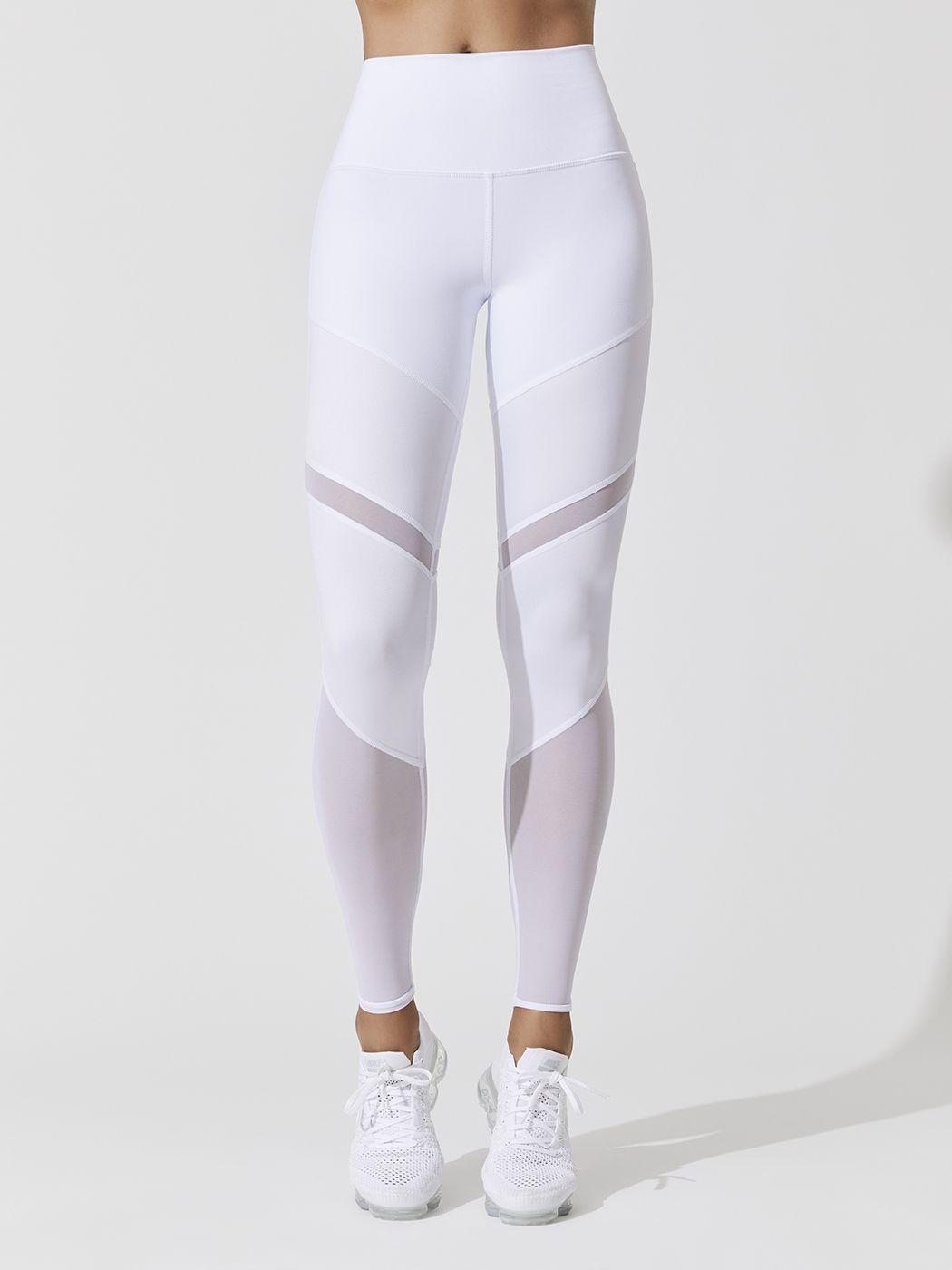 foto de High Waist Sheila Leggings in White in 2019 Active wear
