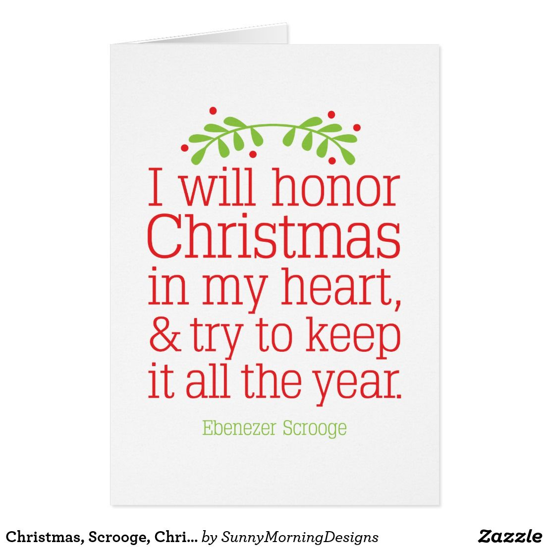 Christmas, Scrooge, Christmas Carol, Holiday Card