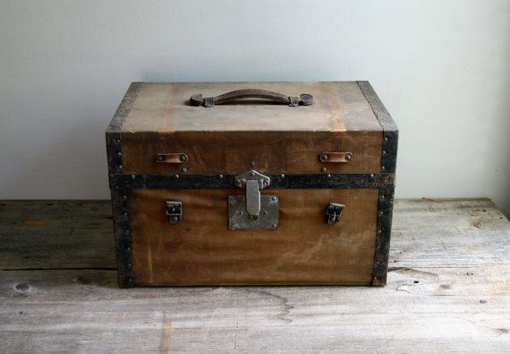 Antique canvas covered chest | first home | Antiques ...