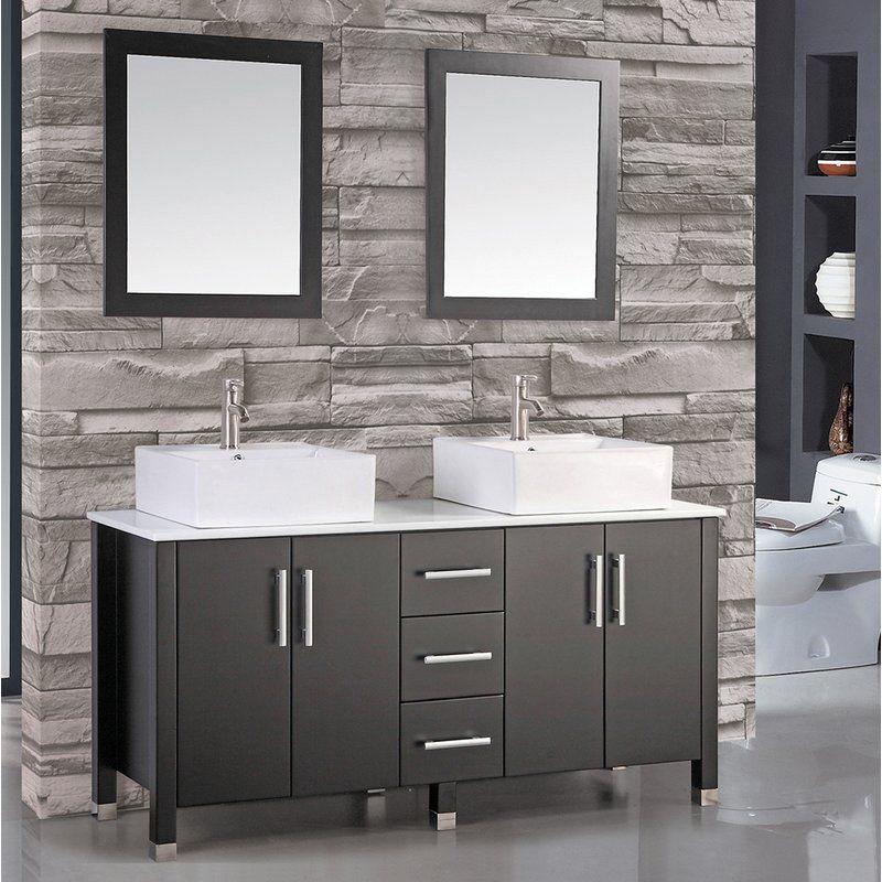 Latitude Run Laroche 71 Double Sink Bathroom Vanity Set With