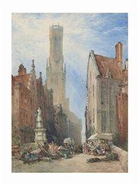 The Belfry at Bruges, Belgium, William Callow