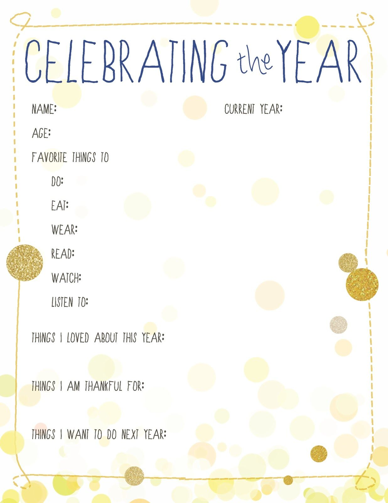 10 New Year S Resolution Printables