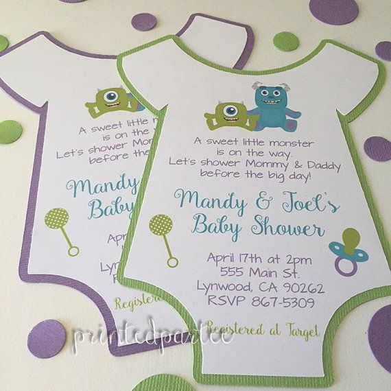 Monsters inc baby shower invitations by printedpartee on etsy baby monsters inc baby shower invitations by printedpartee on etsy filmwisefo Image collections
