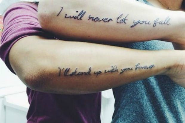 Awesome Friedship Quote Tattoo Matching Best Friend Tattoos For