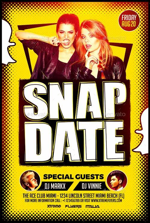 snapdate party flyer template http ffflyer com snapdate party