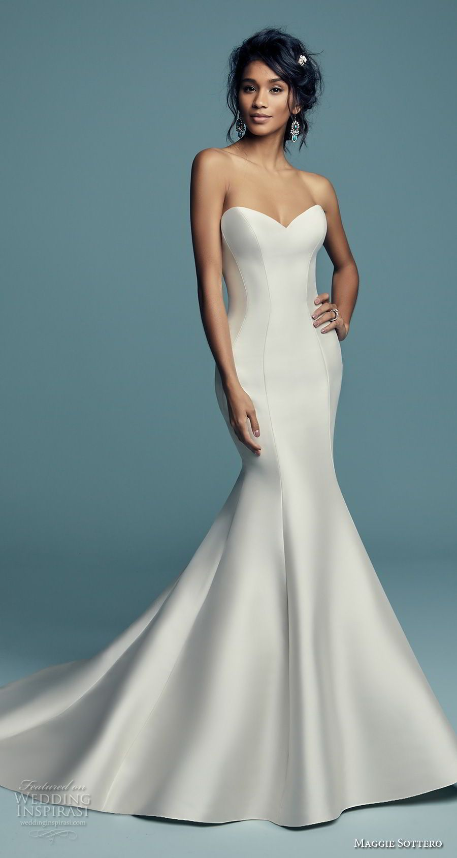 maggie sottero fall 2018 bridal strapless sweetheart neckline ...