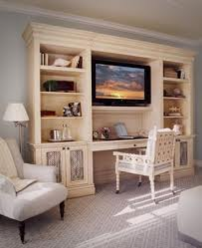 Need This In My Master Bed Place To Study Etc Home Bedroom Entertainment Center Built In Desk