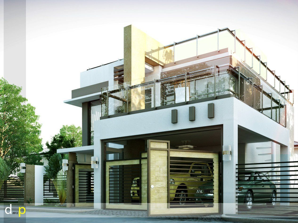 House design half cement - Modern House Designs Series Mhd 2014010 Pinoy Eplans Modern House Designs